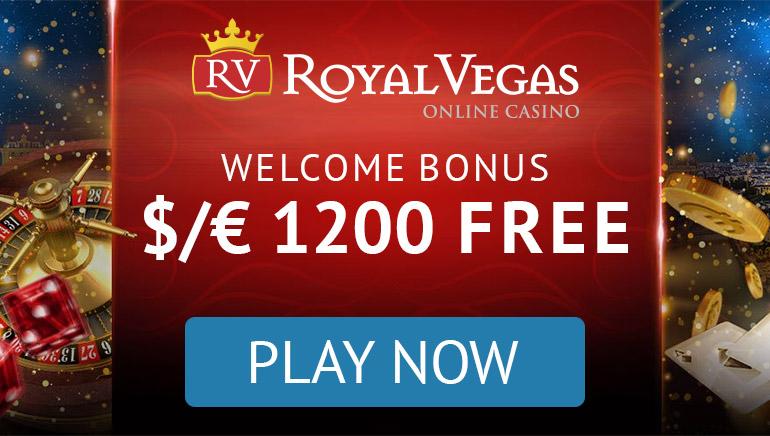 Royal Vegas Online Casino - $/€ 1200 Free Welcome Bonus